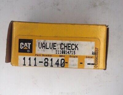 Caterpillar Oem Check Valve 111-8140. Cat Nos Valve Check 1118140.