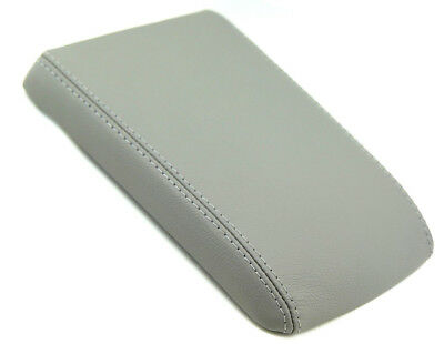 Real Leather GRAY Center Console Lid Armrest Cover For 04-09 Cadillac SRX