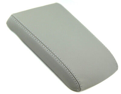 Fits 04-09 Cadillac SRX Gray Real Leather Center Console Lid Armrest Cover