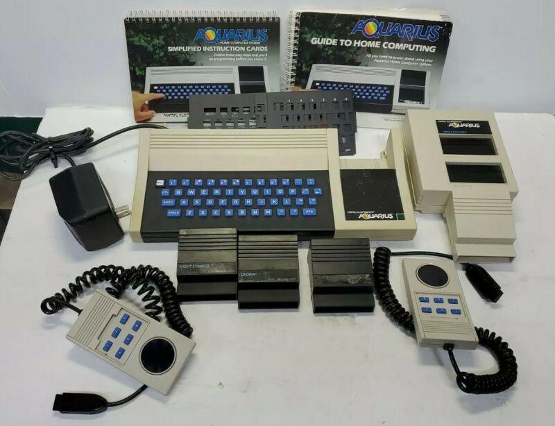 1982 Mattel Aquarius Family Computer System Bundle w/Games, Expander Controllers