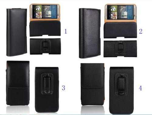 PU Waist Hang Case Cover Belt Holster Clip Protector Pouch Skin FOR Mobile Phone