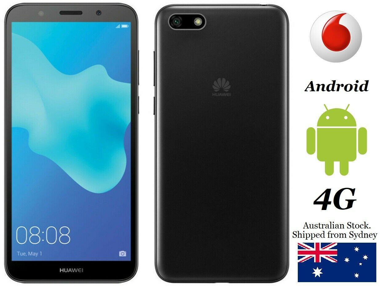 "Android Phone - Vodafone Huawei Y5 2018 Large 5.45"" Screen. Android Smart Phone 4G + $40 SIM"