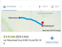 Anyone going from Edmonton to Saskatoon?