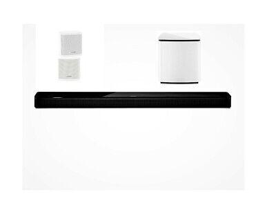 BOSE Soundbar 700 black + Bass Module 700 white + Surround Speaker white 5.1 Set
