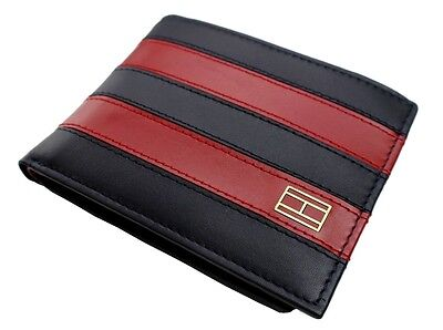 New Tommy Hilfiger Men's Leather Credit Card ID Wallet Billfold 31TL22X040