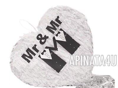 APINATA4U Mr & Mr Heart Wedding Heart Pinata LGBT Party Supplies - Wedding Pinatas