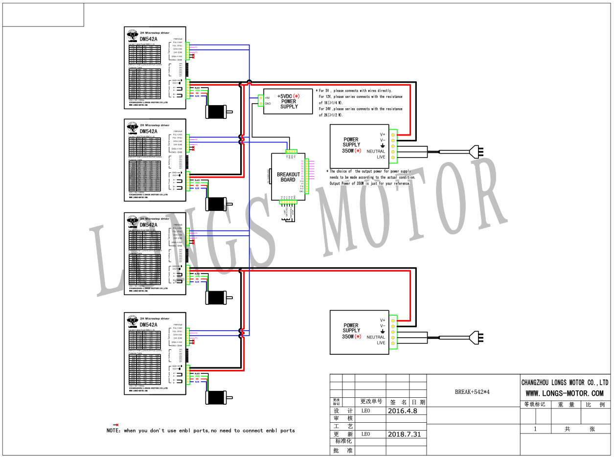 Details about US FREE 4axis Nema 23 stepper motor 23HS9430 425oz.in on