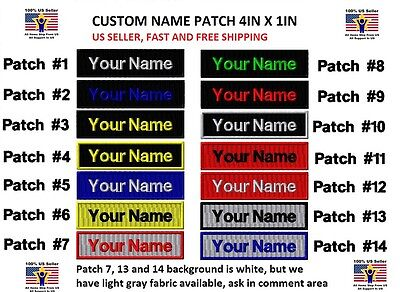 """**LOVE IT OR IT'S FREE** Custom Embroidered NAME TAG """"Iron on"""", Free Shipping"""