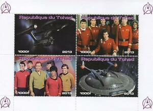 STAR-TREK-2013-REPUBLIQUE-DU-TCHAD-MNH-STAMP-SHEETLET