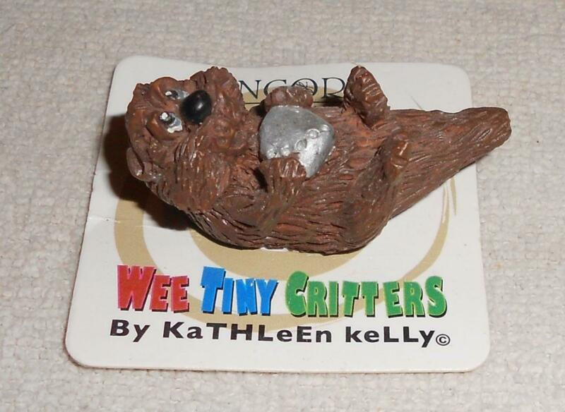Wee Tiny Critters Otter ?? Miniature Figurine Encore Kathleen Kelly