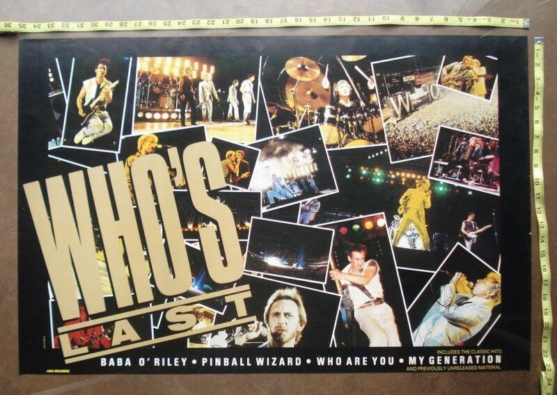 "WHO,24""x35"",POSTER,Very RARE,ORIGINAL,Record Company promo"