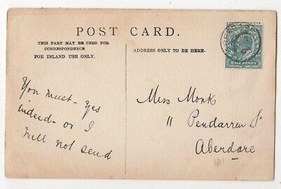 Aberdare 7 Sep 1904 Single Ring Postmark 849b