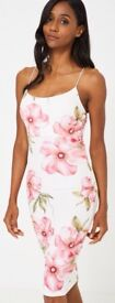 Bodycon cami dress in floral orint