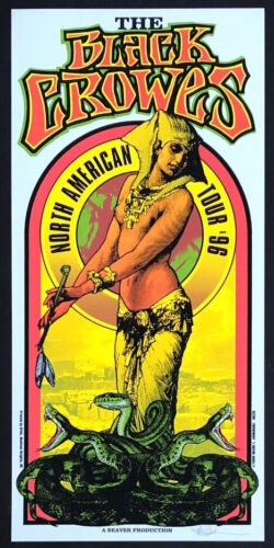 MINT & SIGNED Black Crowes 1996 North American Tour Arminski Poster