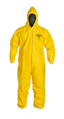 3xlarge Dupont Tychem Tyvek Qc127s Yellow Coverall Chemical Hazmat Suit W Hood
