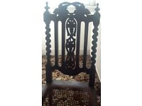 Set of 4 Gothic Jacobean Style Chairs for Restoration