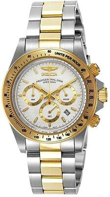 *BRAND NEW* Invicta Men's Speedway Chrono White Dial Two Tone Watch 9212