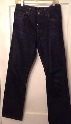 Left Field NYC Mens Greaser Selvedge Denim Blue Jeans Size 32 x 30](Greaser Jeans Mens)
