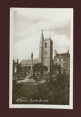 Glos Gloucestershire BRISTOL St James Church pre1919 RP PPC by Barton
