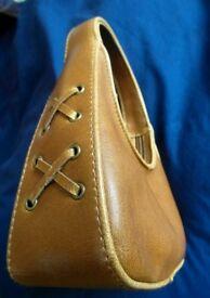 Woman Handbag in Golden Leather