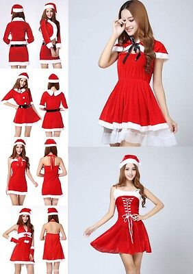 1X New Women Santa Claus Holiday Costume Cosplay Girls Xmas Outfit Fancy Party