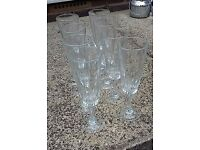 36 matching champagne flutes
