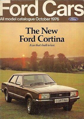 Ford Cars October 1976 UK Market Sales Brochure Escort Cortina Capri Granada