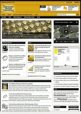 Precious Metals Investing Website Business For Sale With Targeted Seo Content