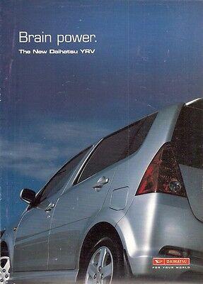 Daihatsu YRV 2001 UK Market Launch Sales Brochure