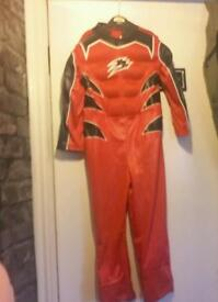 Red power rangers suit