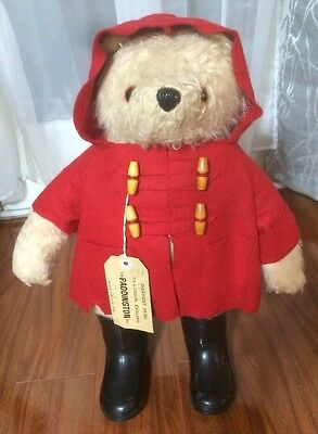 "Vintage 1980 Gabrielle Designs England 19"" Paddington Bear Original Boots 957892"