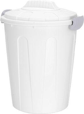Maxitonne 40L mit Deckel - weiß - Universaltonne Mülltonne Abfalleimer Mülleimer