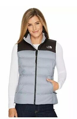 New The North Face NUPTSE Goose Down Women's Puffer Vest XXL Gray NWT