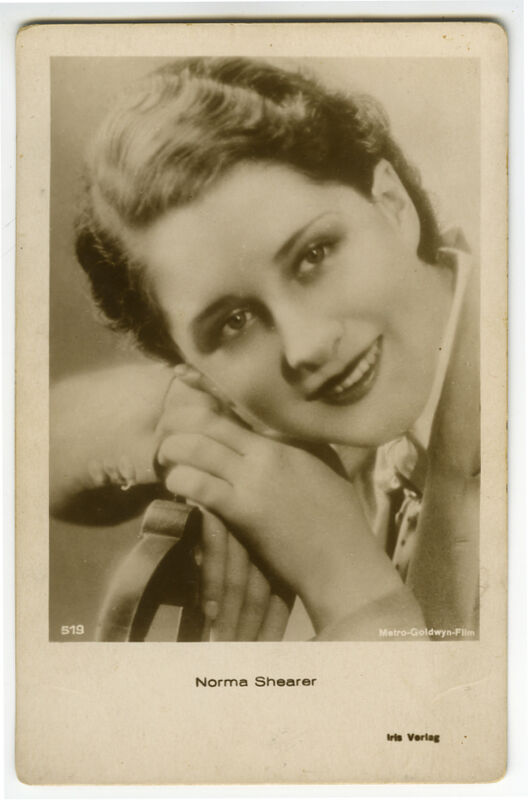 1920s Vintage Movie Star NORMA SHEARER Austrian photo postcard
