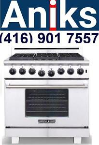 American Range ARR366N 36 Inch Pro-Style Gas Range 6 Sealed Burners, 6.0 cu. ft. Innovection Oven