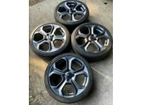 """GENUINE 17"""" FORD FIESTA MK7 8 ZETEC S St180 St Alloy WHEELS AND TYRES Grey"""