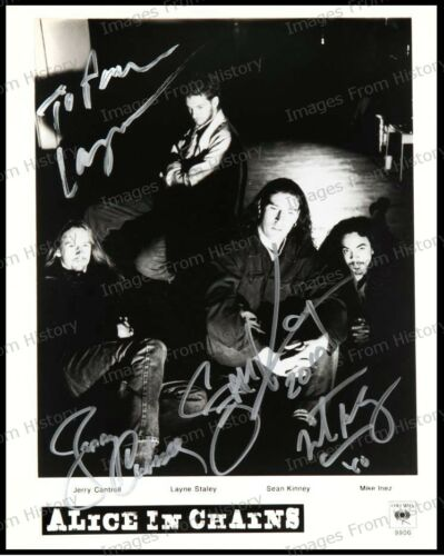 8x10 Print Alice n Chains Jerry Cantrell Layne Staley Sean Kinney Mike Inez #ANC