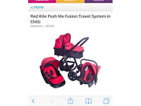 Red kite 3-1 Travel System Buggy Pushchair Car Seat