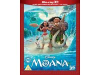 NEW SEALED Disney's Moana 3D Blu-Ray (including 2D Blu-Ray not DVD)