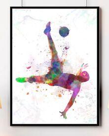 Fine Art Football Glicee Prints