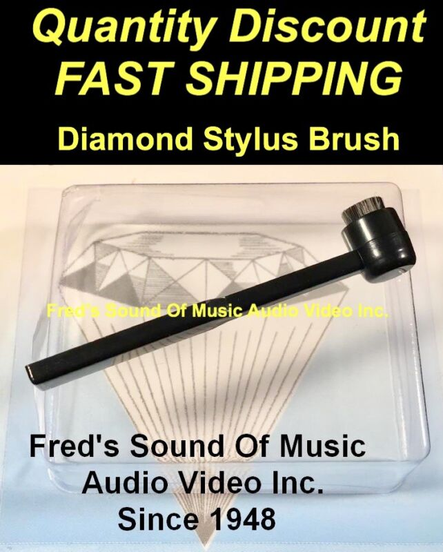 NEW Stylus Brush BEST RATED Carbon Fiber Bristle Record Needle Cleaner SEE VIDEO