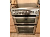 HOTPOINT ULTIMA HUE61X S DOUBLE OVEN COOKER - STAINLESS STEEL