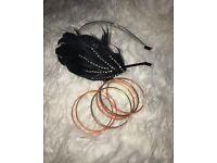 Head band and bracelets