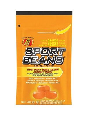 Orange Sport Beans - ORANGE SPORT BEANS ~ Energizing ~ JELLY BELLY CANDY - FRESH ~ 18 PACK