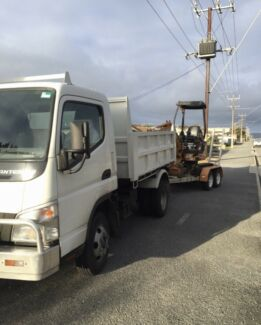 Bobcat, excavator and tipper combo hire
