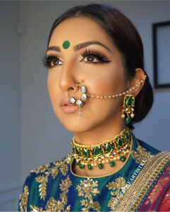 INDIAN NATH KUNDAN NOSE RING INDIATREND JEWELRY