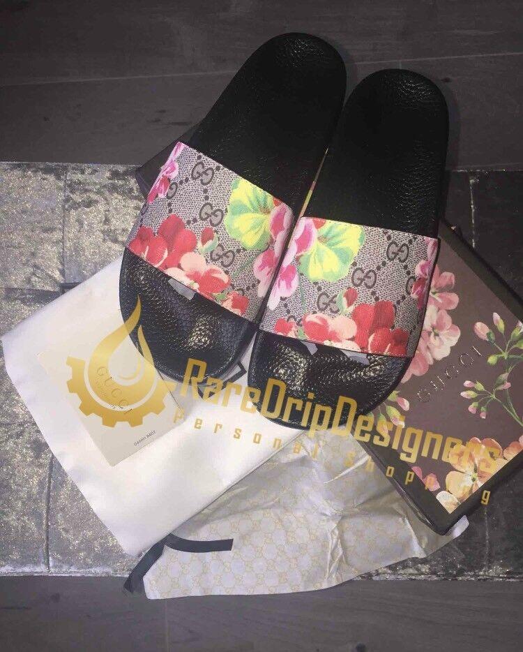 86626d5de817 Gucci GG Blooms Supreme Sliders Sandal Womens