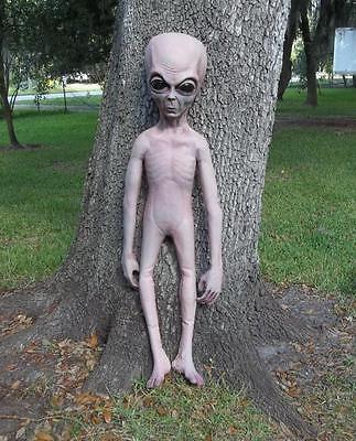 4.5' Life Size Alien Grey UFO Body halloween Prop Roswell Statue Xfiles
