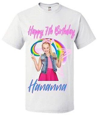 Jojo Siwa Birthday T-shirt- Jojo Siwa Personalised birthday t-shirt.