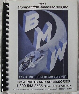 1993 BMW Parts and Accessories Catalog from Competition Accessories, Inc